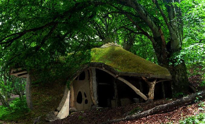 Hobbit Baumhaus Einbaumhaus