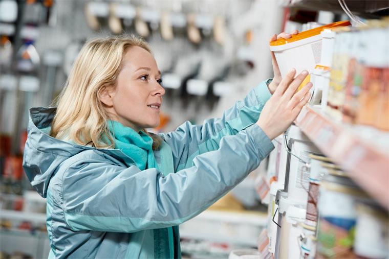 Nachhaltige Verpackung im Baumarkt
