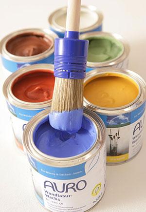 Die Wandfarbe von Auro aus natürlichen Bestandteilen.
