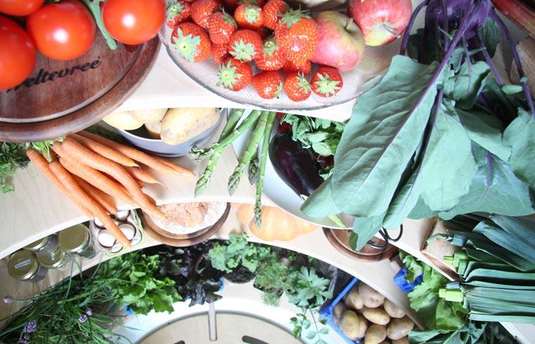 Der Erdkühlschrank aus Holland fasst die Ernte von rund 250qm Gemüsegarten oder von rund 500kg Essen.