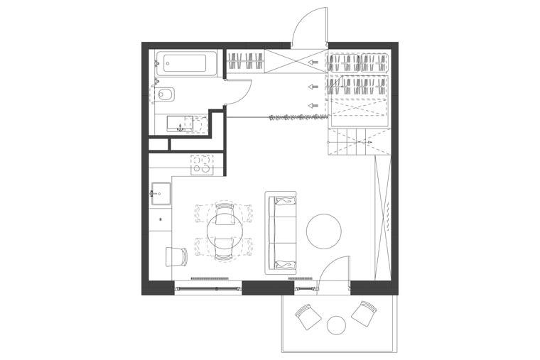 Grundriss eines Tiny houses
