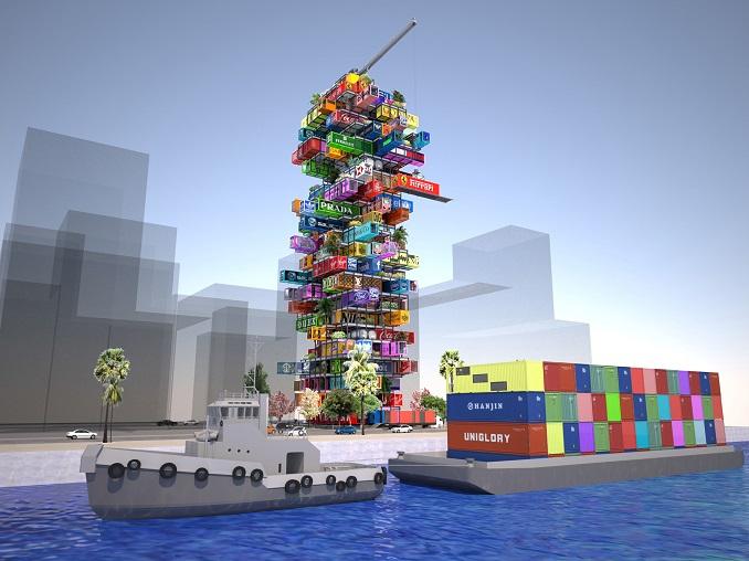 Container Haus Hotel Mobiles Wohnen mit Upcycling Hive-Inn von OVA ...