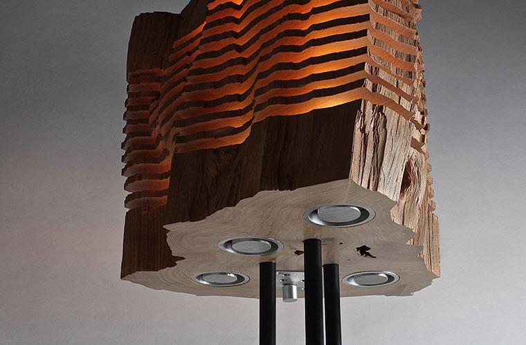Außergewöhnliche Designer Lampen aus Holz.