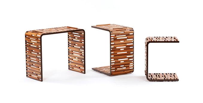 Holztische aus Abfall