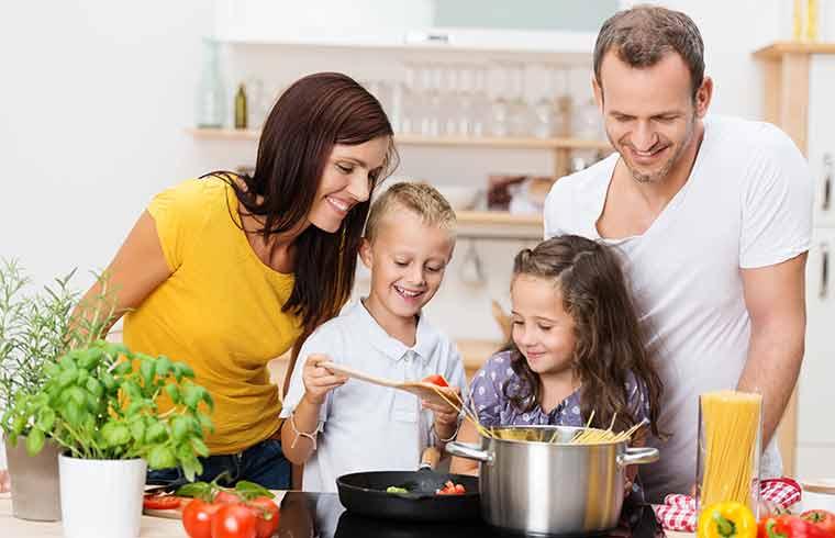 Kochspaß mit der ganzen Familie