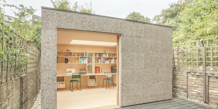 Ein Mini-Atelier aus Kork in Londoners Hinterhofgärten