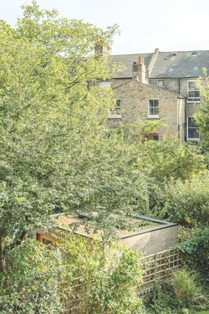 Kork Haus organisch in grüne Umgebung gebaut