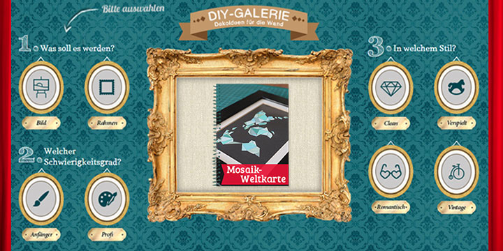 Originelle Bastelideen - DIY-Wand-Dekoration