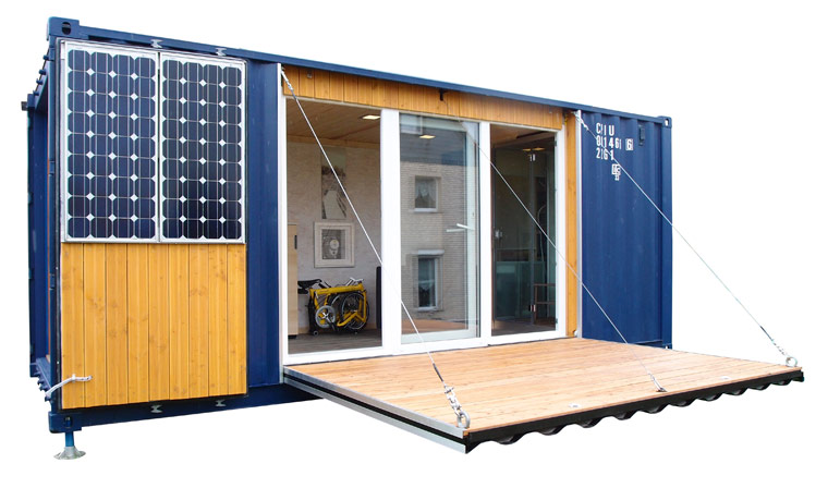 pocketcontainer wohnen im containerhaus ein autarkes mikrohaus. Black Bedroom Furniture Sets. Home Design Ideas