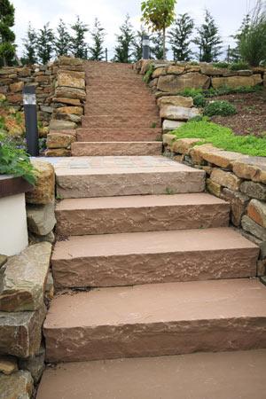 Treppe aus Sandsteinen