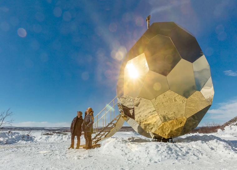 Solar Egg - Eiförmige Saunainstallation für Kiruna