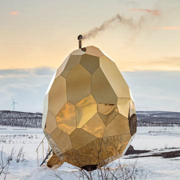 Solar Egg: Eine außergewöhnliche Sauna für den Klimaschutz