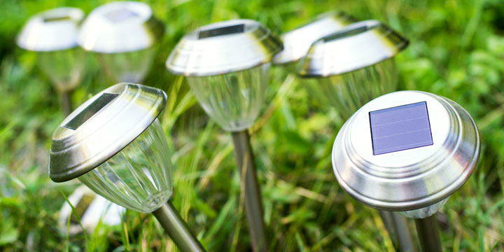 Strom sparen mit Solar Gartenleuchten