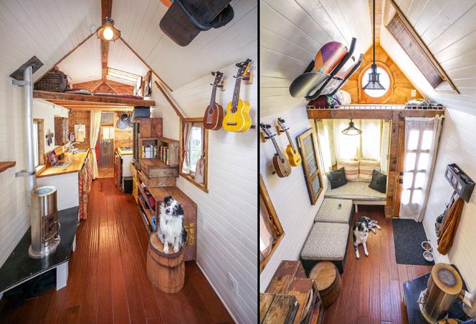 Wohn und Schlafbereich im tinyhouse sind super gemütlich