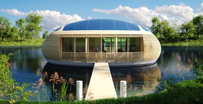 bio solar haus kologisches und nachhaltiges wohnen auf dem wasser. Black Bedroom Furniture Sets. Home Design Ideas