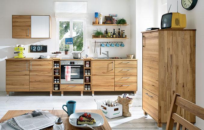 holz k chen f r ein gesundes und kologisches wohnen. Black Bedroom Furniture Sets. Home Design Ideas