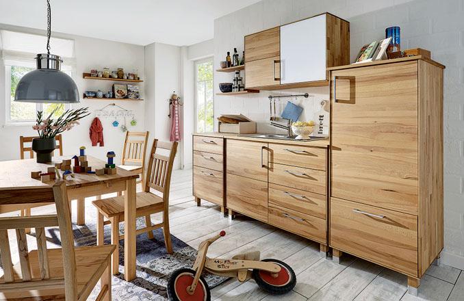 k chen aus massivholz im kologischen sortiment von allnatura. Black Bedroom Furniture Sets. Home Design Ideas