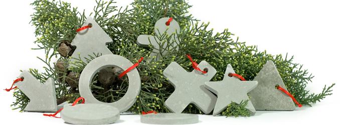 Beton Baum Weihnachten Schmuck