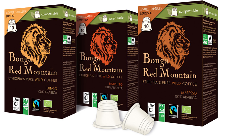 Aluminiumfreie und biologische Kaffee-Kapseln