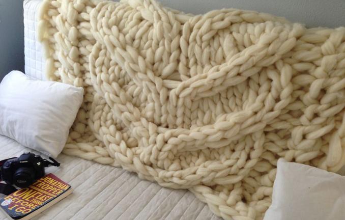 Riesen Decke stricken