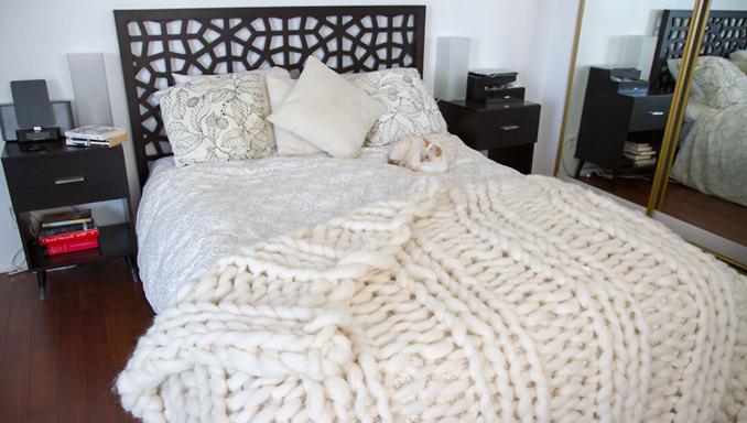 Decke Stricken Für Jedermann Einfache Anleitung Für Riesen Strick Decke