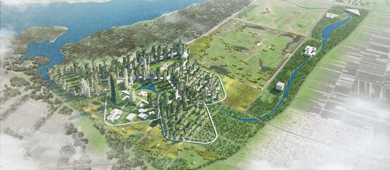 Die grüne Wald-Stadt könnte zum Modell für nachhaltigen Städtebau in China werden