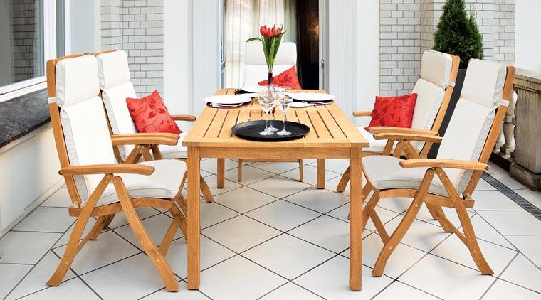 Vier neue Gartenmöbel-Programme können ab sofort bei allnatura erworben werden.