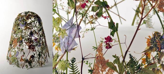 blumendeko gestecke aus trockenblumen kunst aus der natur. Black Bedroom Furniture Sets. Home Design Ideas
