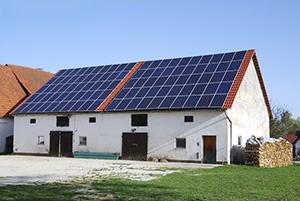 Solaranlagen auf dem Nebengebäude