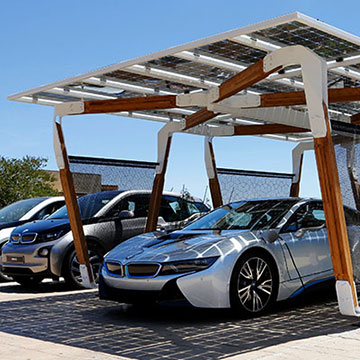 Innovativer Solar-Carport für Zuhause