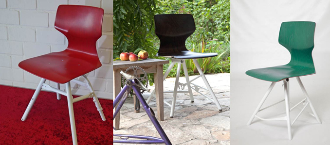 Upcycling aus Fahrrad wird Stuhl