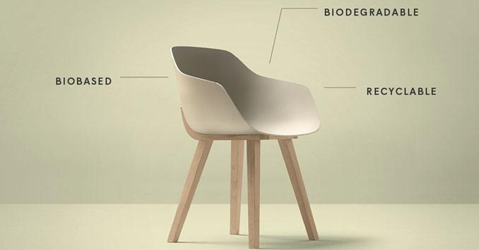 Erster biologisch abbaubarer Stuhl
