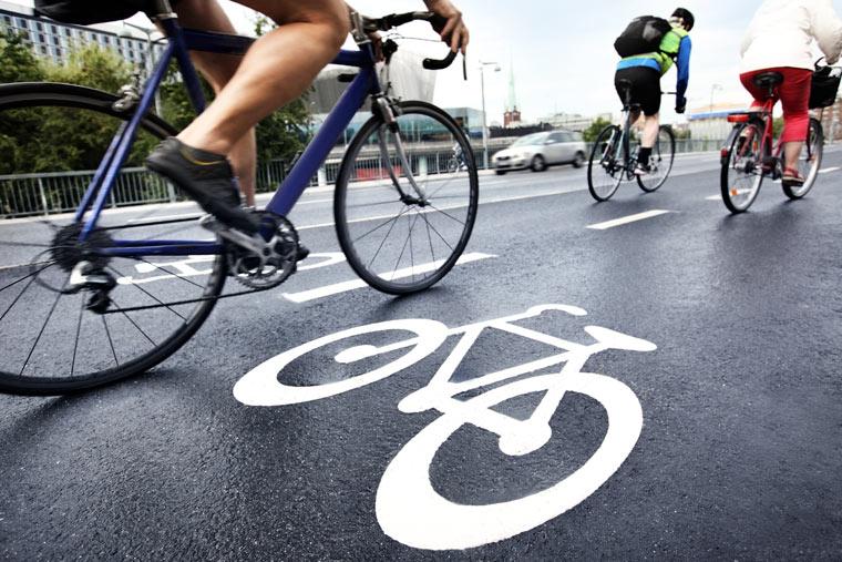 Fahrräder in der Stadt