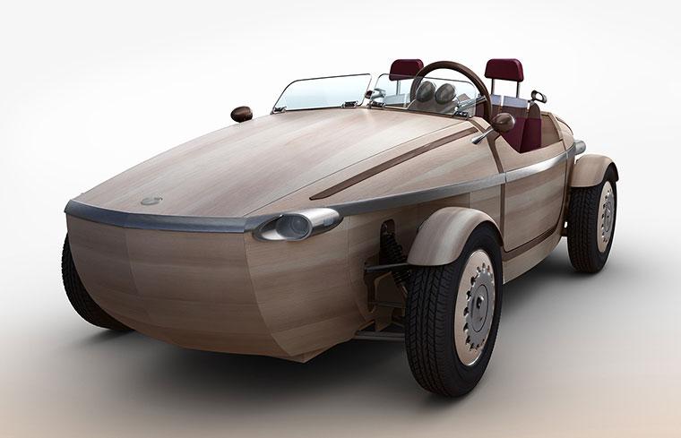 Der ?Setsuna? ist ein echtes Auto aus Holz und verspricht besondere Momente