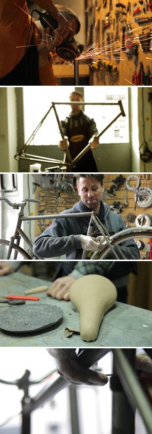 Eine Arbeit, die sich lohnt. Die fertigen Bikes haben einen tollen Charme ©Bicycled