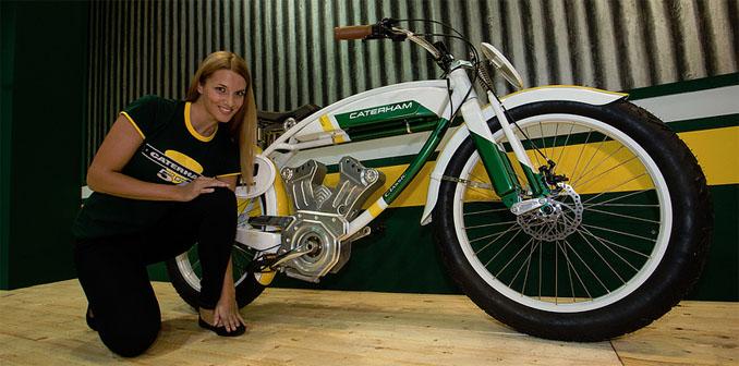 E-Bikes werden auch Pedelecs genannt. Die neue Serie vom britischen Formel-1 Caterham überzeugt mit High-Tech und Design © Caterham Bikes