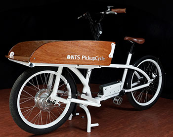 e bike von nts smartes pick up bike dient als transportfahrrad. Black Bedroom Furniture Sets. Home Design Ideas