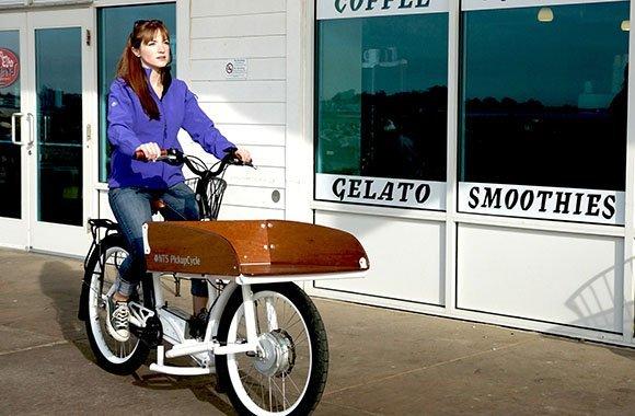E Bike mit Transport-Ladefläche