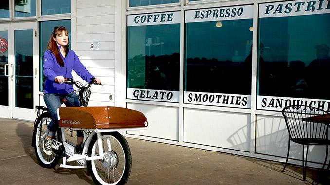 Das elektrische Pickup Fahrrad macht sich ideal als komfortabler Transporter © NTS Works