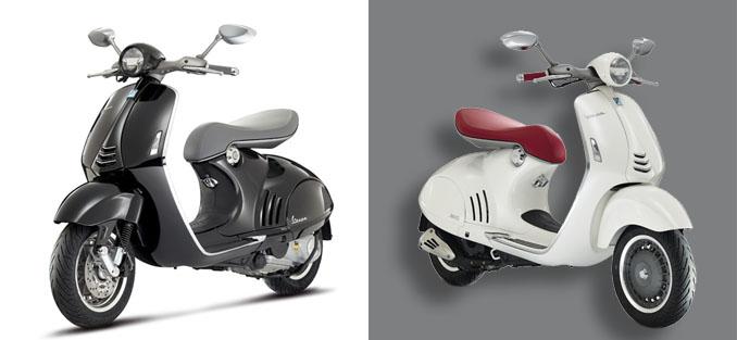 Black or white? Beide Farben wirken sehr elegant und die Modelle sind typisch Vespa ©Piaggio