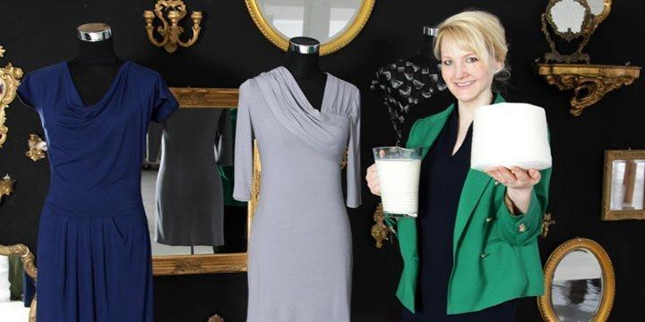 Anke Domaskes nachhaltige Mode: «Die Innovation aus Bio-Milch»