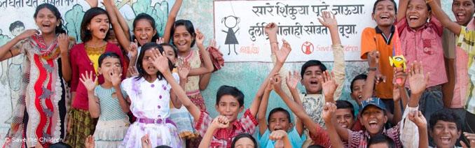 Ein Projekt soll Kinder in Indien vor potenzieller Kinderarbeit in der Baumwoll-Industrie schützen © Save the Children