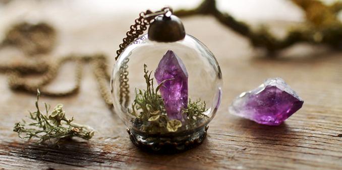 Blumen Glas Schmuck Frauen