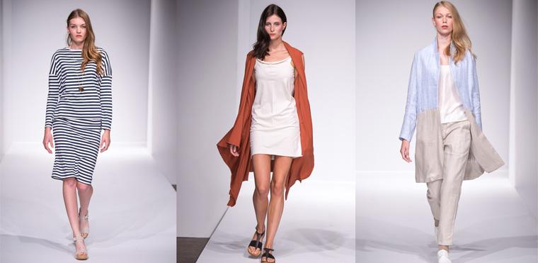 Hinter den Looks stehen die Kollektionen der Eco-Brands Elementum, MUD Jeans, Studio Elsien Gringhuis, studio JUX und Trevor's.