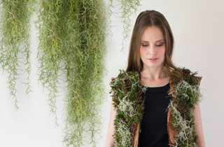 Immer frische Luft mit der Eco-Weste aus Pflanzen