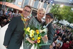 Gregor Kathstede, Désirée Nick und Thomas Rath mit dem German Lifestyle Award © Dariusz-Misztal