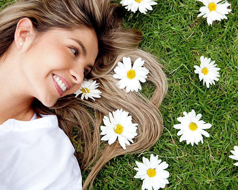 Gesunde Haare durch ausreichend Nährstoffe.
