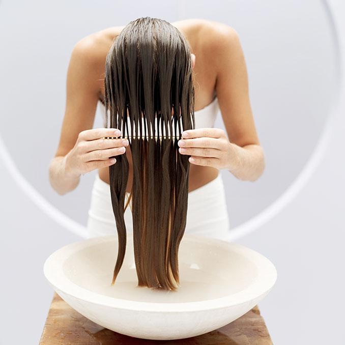 Haare spuelen
