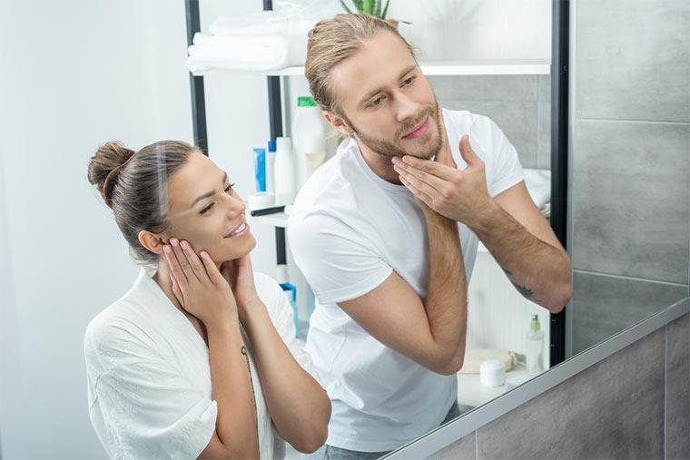 Hautpflege bei Mann und Frau