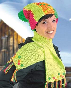 Schick und modern durch den Schnee, so sieht die fertige Mütze aus ©efco-Kreativteam